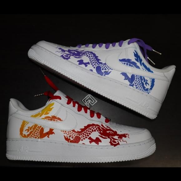 Nike Air force 1s Dragon Custom